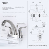 wash hand basin mixer taps 2 handles