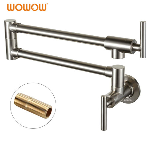 Wall Mounted Pot Filler Tap Single Lever Stainless Steel