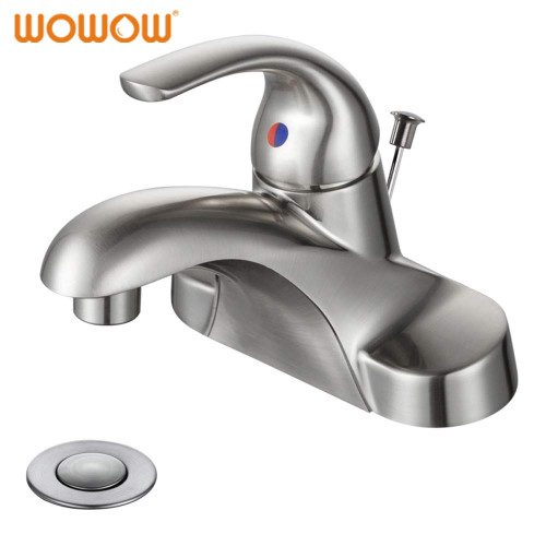 Lavatory Faucet 3 Hole 4 Inch Single Handle