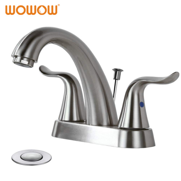 Bathroom Faucet 4 Inch Centerset Brushed Nickel
