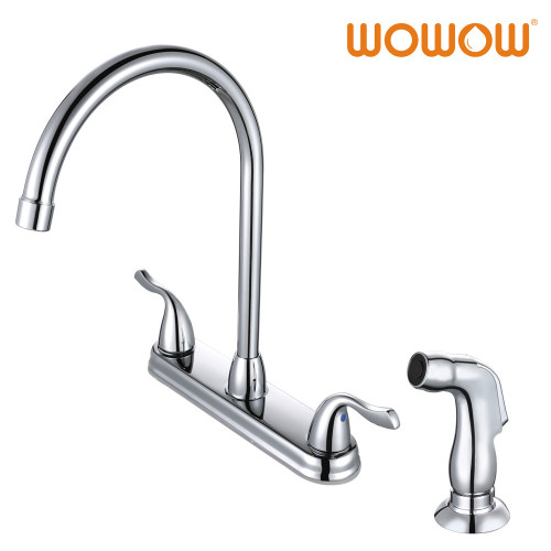 Side Handle Kitchen Hot And Cold Water Faucet Stainless Steel