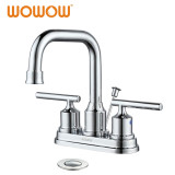 4 In. Centerset 2-Handle Bathroom Faucet