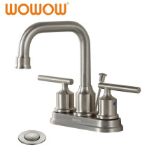 Bathroom Faucet 2 Handle Brushed Nickel  4 Inch