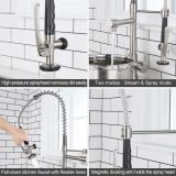Kitchen Faucet with High-Arc Spring Spout