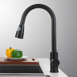 Single Lever Kitchen Mixer Tap Matte Black-2