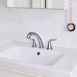 Widespread 2-Handle High-Arc Bathroom Faucet Chrome--7