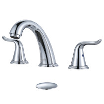 Widespread 2-Handle High-Arc Bathroom Faucet Chrome