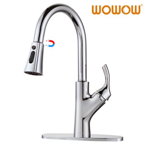 Kitchen Sink Faucet Pull Down Sprayer Chrome