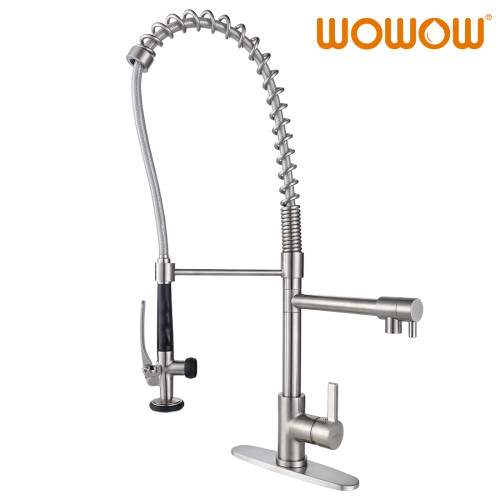 Kitchen Faucet With Spring Pull Down Sprayer