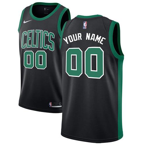 Men's Customized Basketball Club Team Black Road Jersey - Elite