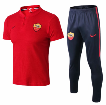 AS Roma 19/20 Training Polo and Pants - Red