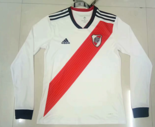 Thai Version River Plate 19/20 LS Home Soccer Jersey