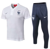 France 2018 Training Polo and Pants - White