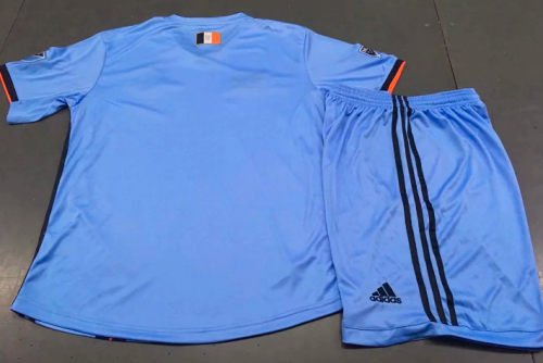 New York City 19/20 Kids Home Soccer Jersey and Short Kit