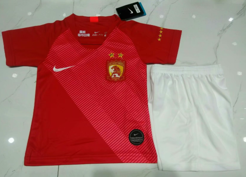 Evergrande 2019 Kids Home Soccer Jersey and Short Kit