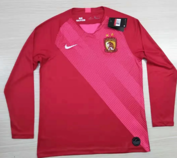 Thai Version Evergrande 2019 LS Home Soccer Jersey