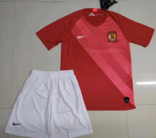 Evergrande 2019 Home Soccer Jersey and Short Kit