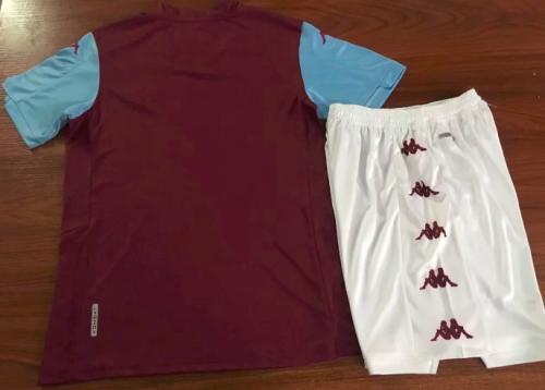 Aston Villa 19/20 Home Soccer Jersey and Short Kit