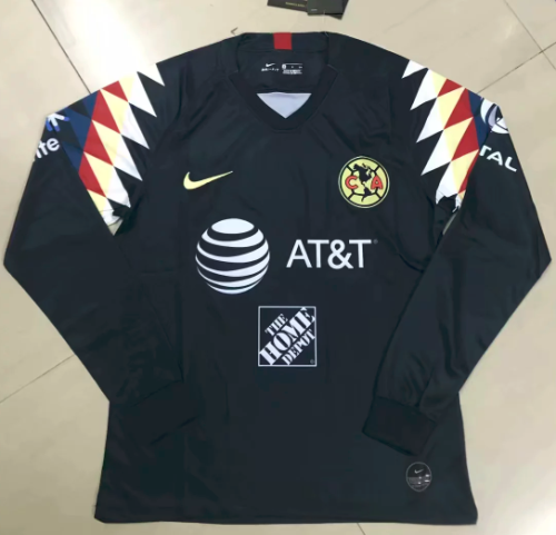 Thai Version Club America 19/20 LS Away Soccer Jersey