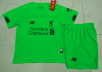 Liverpool 19/20 Kids Goalkeeper Soccer Jersey and Short Kit