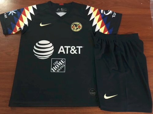 Club America 19/20 Kids Away Soccer Jersey and Short Kit