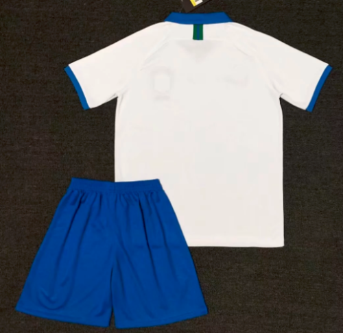 Brazil 2019 Soccer Jersey and Short Kit - White