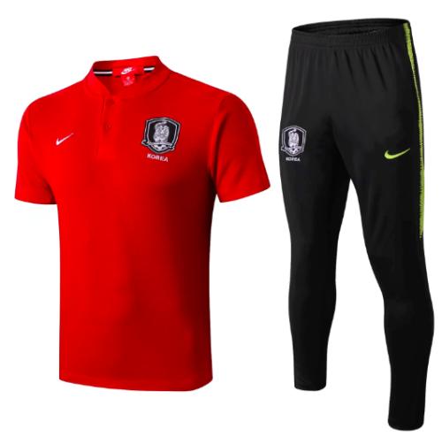 Korea 2019 Training Polo and Pants - Red