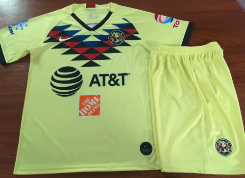 Club America 19/20 Home Soccer Jersey and Short Kit