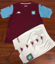Aston Villa 19/20 Kids Home Soccer Jersey and Short Kit