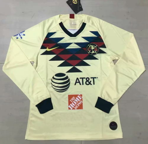 Thai Version Club America 19/20 LS Home Soccer Jersey