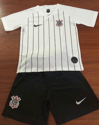 Corinthians 19/20 Kids Home Soccer Jersey and Short Kit