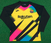 Thai Version Barcelona 19/20 LS Goalkeeper Soccer Jersey - 001