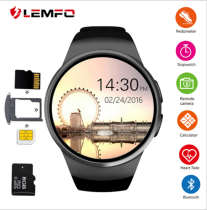 Lemfo kw18 smart watch heart rate sleep monitoring information push Bluetooth Phone Watch