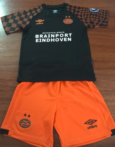 Eindhoven 19/20 Kids Away Soccer Jersey and Short Kit