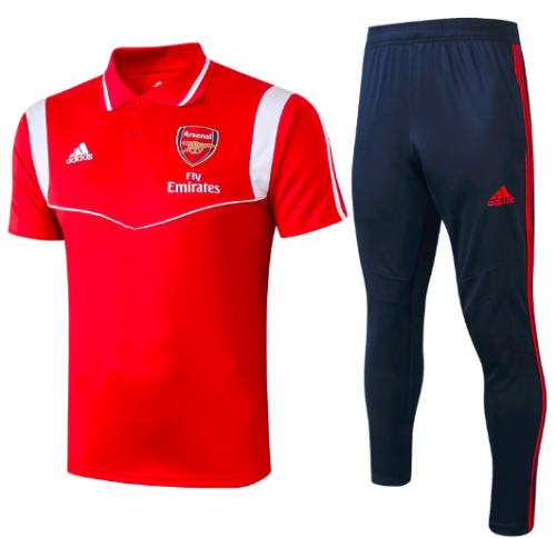 Arsenal 19/20 Training Polo and Pants Red