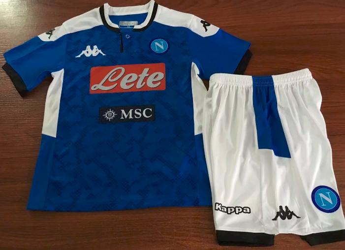 Napoli 19/20 Kids Home Soccer Jersey