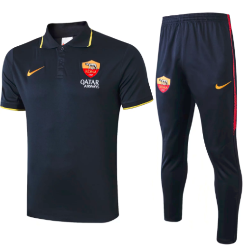 AS Roma 19/20 Polo and Pants - #C378