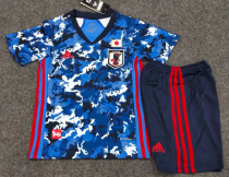 Japan 2020 Kids Home Soccer Jersey and Short Kit