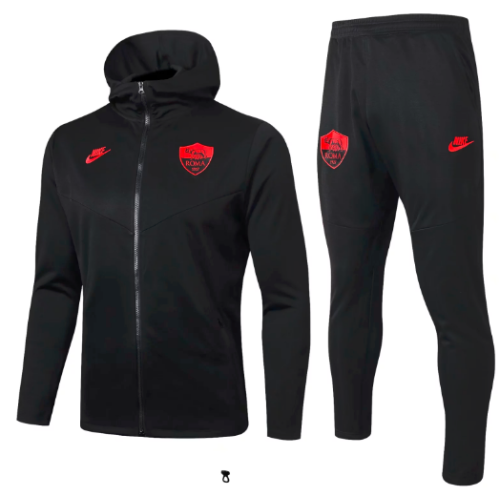AS Roma 19/20 Hoodie and Pants Black - #F229