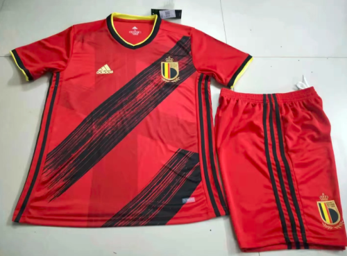 Belgium 2020 Home Soccer Jersey and Short Kit
