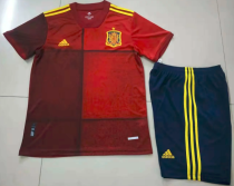 Spain 2020 Home Soccer Jersey and Short Kit