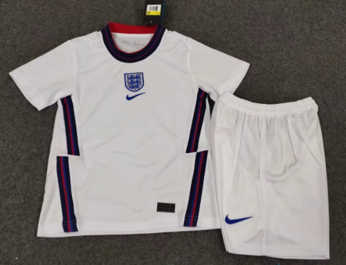 England 2020 Kids Home Soccer Jersey and Short Kit