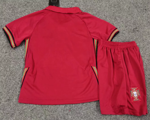 Portugal 2020 Kids Home Soccer Jersey and Short Kit