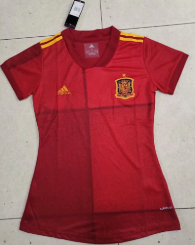 Thai Version Spain 2020 Women's Home Soccer Jersey