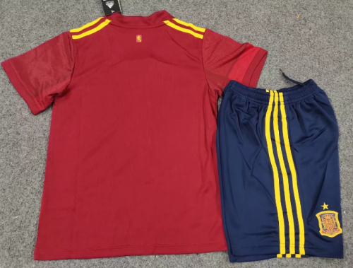 Spain 19/20 Kids Home Soccer Jersey and Short Kit