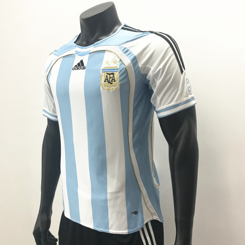 Argentina 2006 Home Retro Soccer Jerseys
