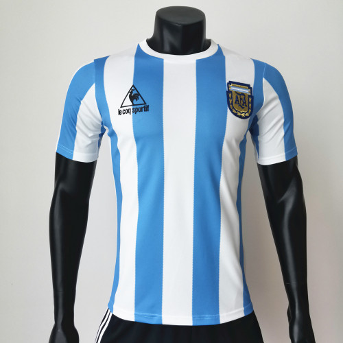Argentina 1986 Home Retro Soccer Jerseys