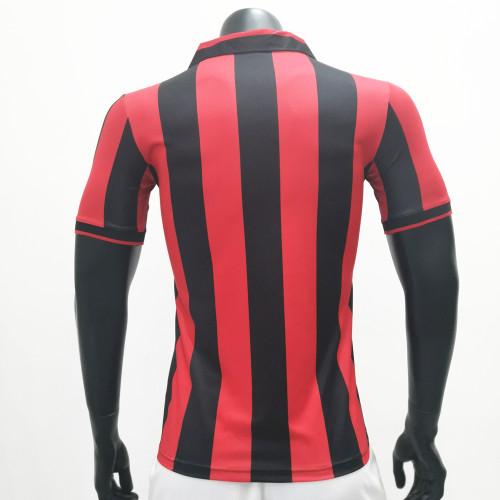 AC Milan 1990/1991 Home Retro Soccer Jerseys