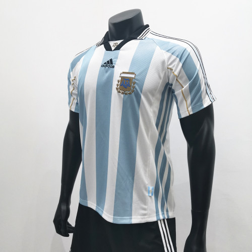 Argentina 1998 Home Retro Soccer Jerseys