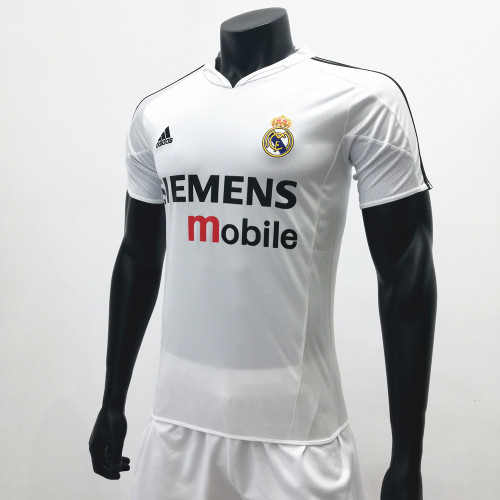 Real Madrid 2004/2005 Home Retro Soccer Jerseys